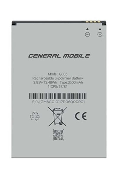 General Mobile Genaral Mobile Gm 8 Go Orijinal Batarya 3500 Mah
