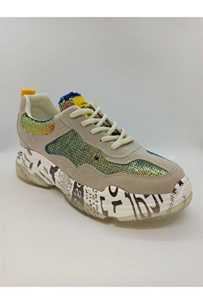 Guja Kadın Bej Renkli Desen Ayakkabı 19k300-2