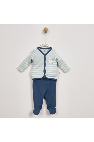 Panço Erkek Bebek Yeşil Yenidoğan 2'li Takım 2021bn17004