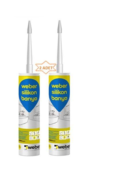 WEBER Kararmayan, Küflenmeyen Antibakteriyel Banyo Silikonu Beyaz 280 Ml (2 Adet)