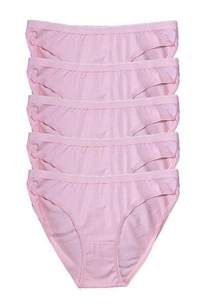 Tutku Kadın Penye Bikini 5li Külot Toz Pembe