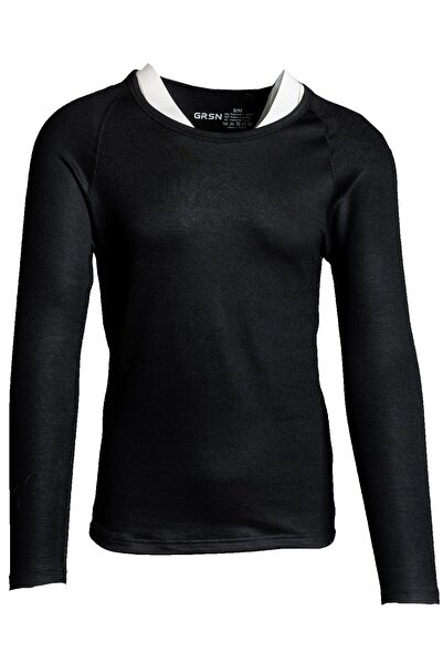 GRSN Erkek Siyah Termal Uzun Kollu Soğuk Geçirmeyen Body T-shirt