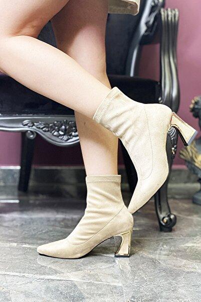ALYA PLUS Kadın Taba Süet Ayakkabı Bot