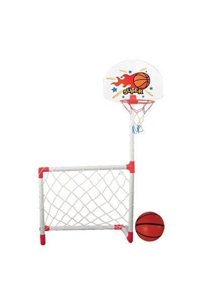 Junior Oyuncak Kale Ve Pota Futbol Basketbol 2li Set Top Dahil