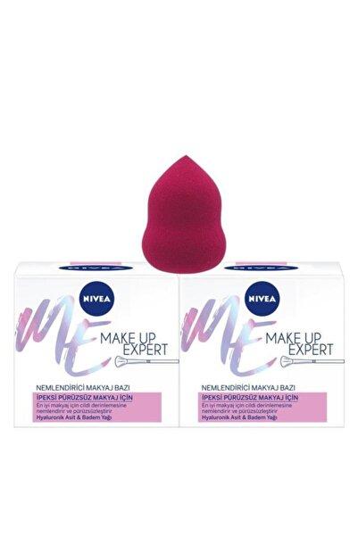 Nivea Make Up Expert Pürüzsüz Makyaj İçin Nemlendirici Makyaj Bazı x2 + Makyaj Süngeri