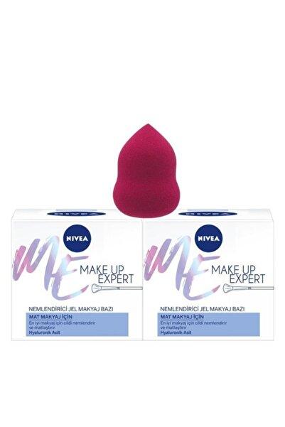 Nivea Make Up Expert Mat Makyaj İçin Nemlendirici Makyaj Bazı x2 + Makyaj Süngeri