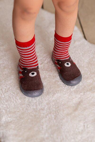 Nou Nou Ayılı Kaydırmaz Taban Çorap Panduf