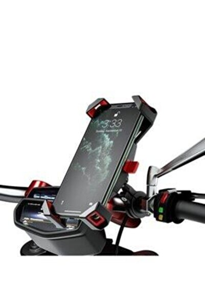Nukrotech Motosiklet Gidon Aparatlı Telefon Tutucusu