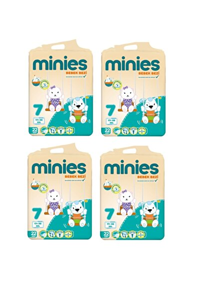 Minies 7 Numara 22x4=88 Adet Bebek Bezi 17+ Kg
