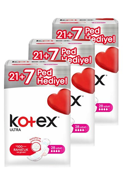 Kotex Ultra Uzun 28'li X 3 = 84 Adet Ped