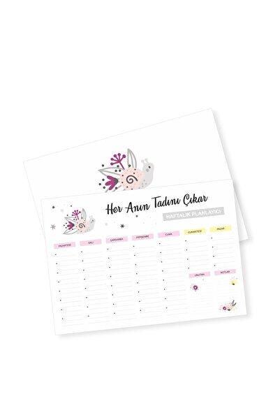 YAPRAK Haftalık Planlayıcı Defter - Çiçekler
