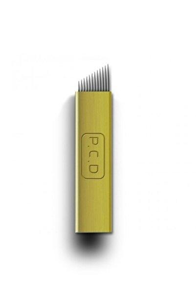 ARMONİKONYA 5 Adet 12 Pin Sarı P.c.d Kalıcı Makyaj Dövme Microblading Iğnesi