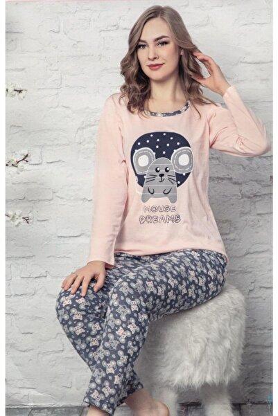 Marilyn Pijama Kadın Pembe Uzun Kol Pijama Mr8152
