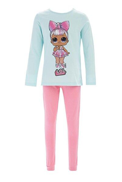 DeFacto Kız Çocuk Yeşil L.o.l Lisanslı Pijama Takımı