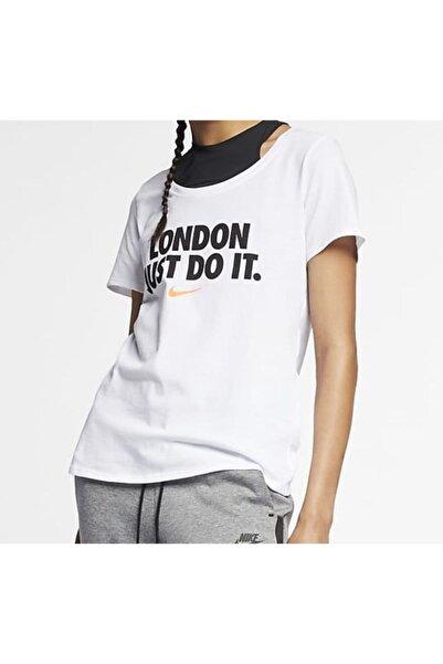 Nike Sportswear London Jdı Women's T-shirt Bv1273-100-- L Beden