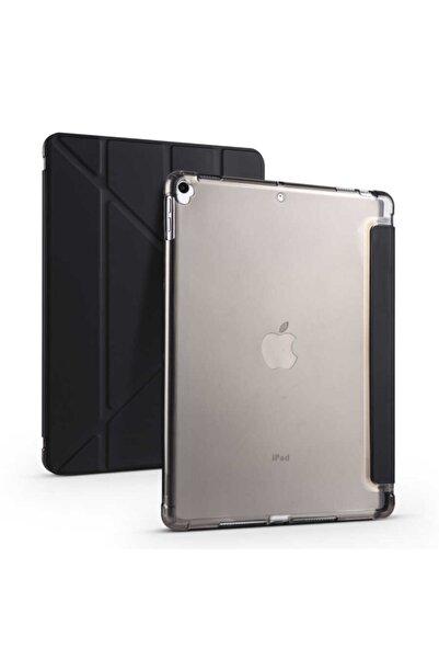 """Fibaks Ipad 8. Nesil 10.2"""" Uyumlu Kılıf Kalem Bölmeli Tri Folding Smart Standlı Yumuşak Silikon Tam Koruma"""