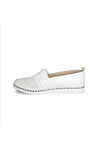 Stella Kadın Beyaz Deri Ayakkabı