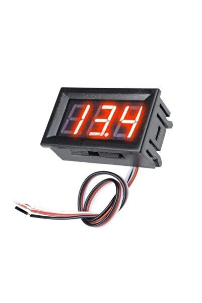 Ugreen Pano Tipi Dijital Voltmetre Dc 0 30v Kırmızı Led Panel Akü Oto Gerilim Ölçer Avometre