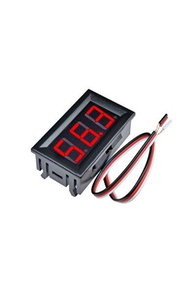 Ugreen Pano Tipi Dijital Voltmetre Dc 0 100v Kırmızı Led Panel Akü Oto Gerilim Ölçer Avometre