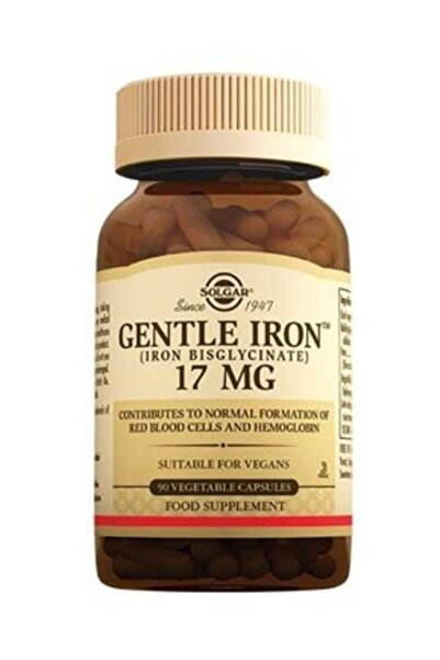 Solgar Gentle Iron 17 Mg 90 V-kapsül