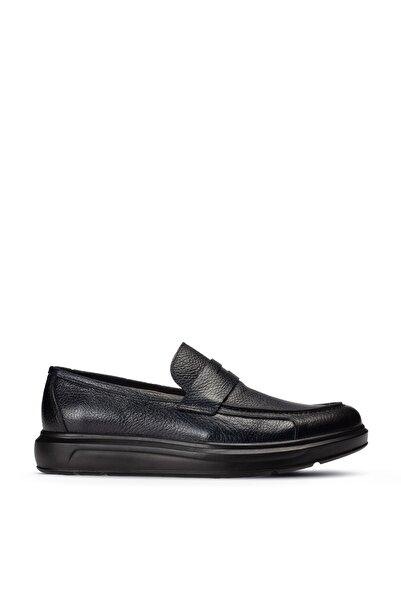 Deery Erkek Lacivert Deri Comfort Loafer