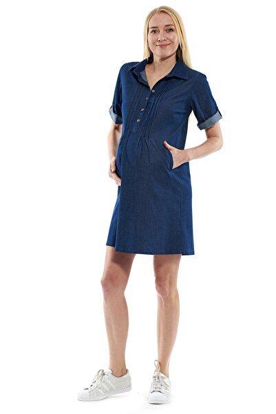 Motherway Kadın Lacivert Hamile Elbisesi Jem108