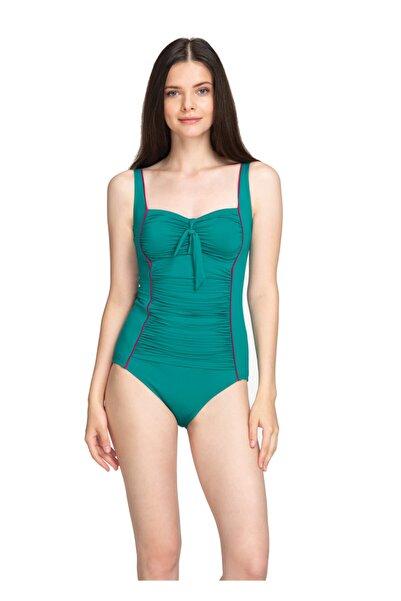 Dagi Kadın Yeşil Drapeli Mayo