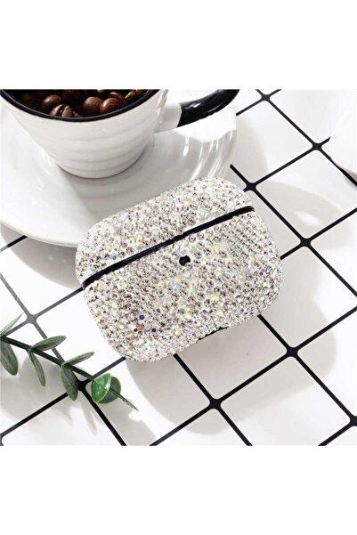 zore Airpods Pro Uyumlu Diamond Parlak Taşlı 2 Parça Kılıf