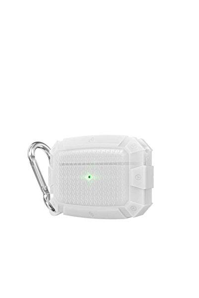 zore Apple Airpods Pro Uyumlu Darbe Emici Zırh Görünümlü Wireless Şarj Destekli Askılı Kancalı Kılıf