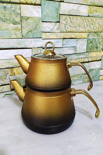 Kahramanlar Altın Elegance Granit Çaydanlık Seti
