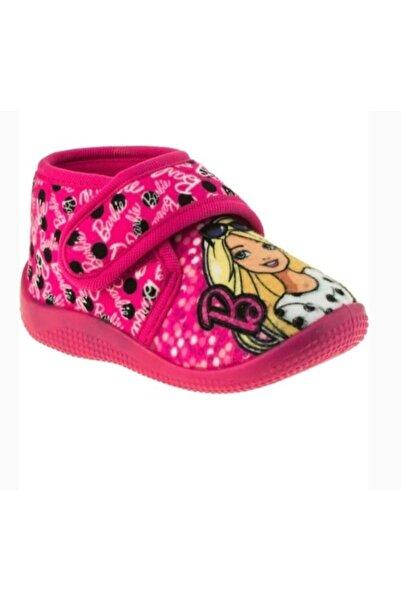 Barbie Desenli Lisanslı Pembe Kız Çocuk Ev Ve Kreş Ayakkabısı