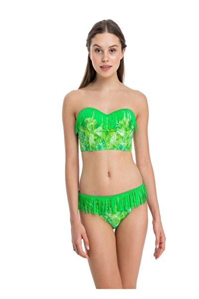 Dagi Kadın Yeşil Kaplı Büstiyer Bikini Takımı B0118Y0553