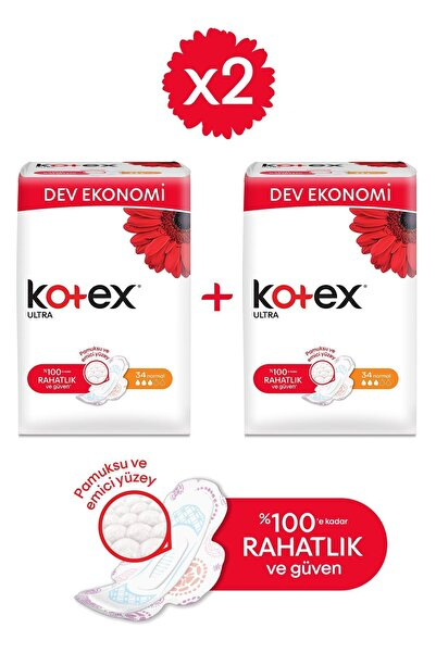 Kotex Ultra Dev Eko Normal 34'lü - 2'li Paket