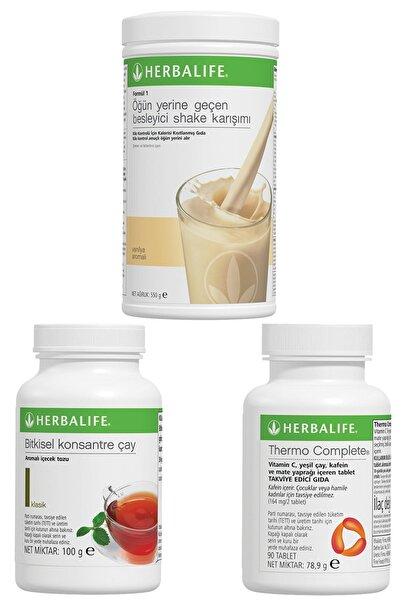 Herbalife Shake Vanilyalı, Thermo Complete, Klasik Çay 100gr Birer Adet