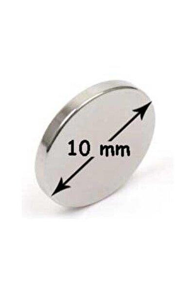 10 Adet Neodyum Mıknatıs - Çok Güçlü - Çap:10m Kalınlık:1mm
