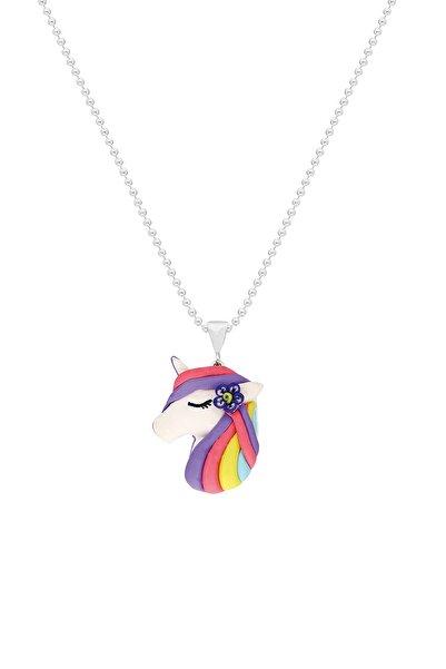 Tres Jolie Lollie Kız Çocuk Gümüş Kolye El Yapımı Unicorn