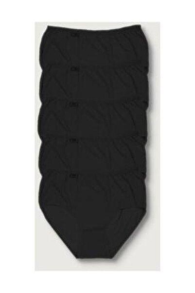 Kadın Siyah 5'li Paket  Likralı Bato Külot ELF568T0924CCM5
