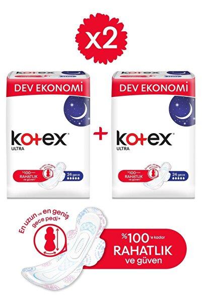 Kotex Ultra Dev Eko Gece 24'lü - 2'li Paket