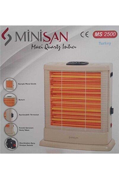 Minisan Maxi Ms-2500 2500 W Quartz Isıtıcı Bej