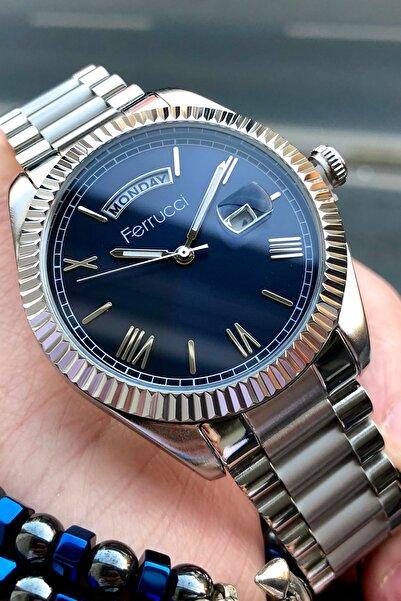 Ferrucci Erkek Gümüş Kol Saati ve Bileklik