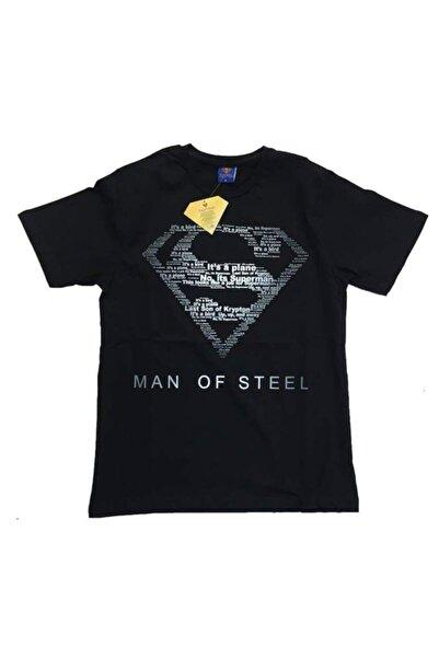 Superman Erkek Siyah Orijinal Lisanslı Tshirt man Of Steel