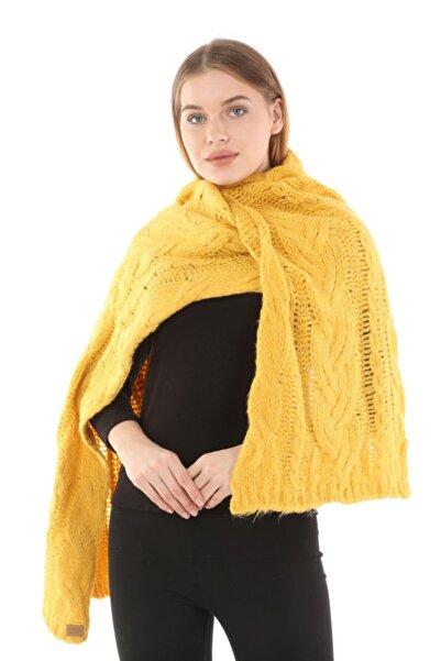 uniq store Kadın Sarı Uzun Atkı -107