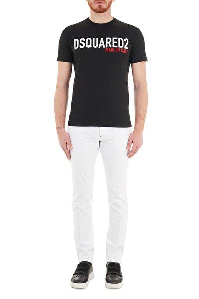 DSquared2 Erkek Beyaz Slim Fit Cepli Pamuklu Jeans Kot Pantolon S74lb0936 S39781 100