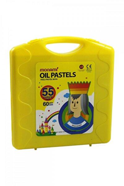 Monami 55 Renk 60lı Sarı Çantalı Pastel Boya