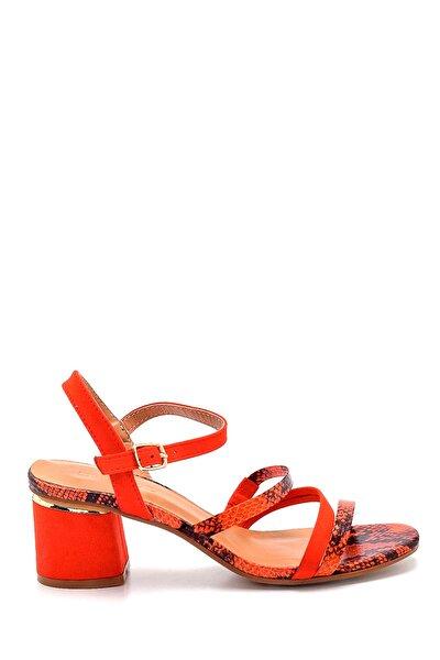 Derimod Kadın Kırmızı Topuklu Sandalet