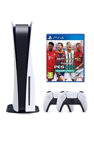 Sony Playstation 5 825 GB + 2. PS5 DualSense + PS5 Pes 21
