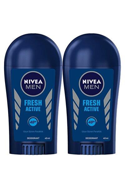 Nivea Men Fresh Active Erkek Deodorant Stick 40 ml  2'Li
