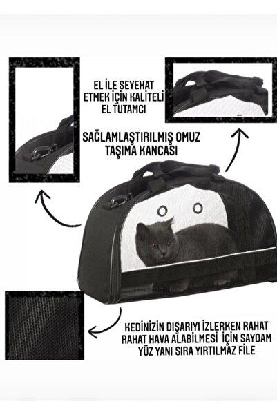 LOS ANGELES POLO CLUB Kedi Köpek Taşıma Seyehat Omuz Ve El Çantası Fosforlu Çift Kapaklı Siyah