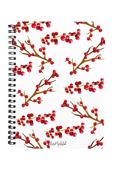 Bikutumutluluk N067 A5 Tasarım Spiralli Defter - Kokina Çiçeği Yılbaşı