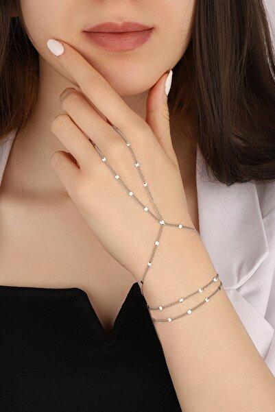 Lia Berto Kadın Pullu Zincir 925 Ayar Gümüş Şahmeran